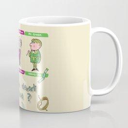 Do you want a clue ? Cluedo's characters board game Coffee Mug