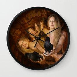 Pentangle Goddess Wall Clock