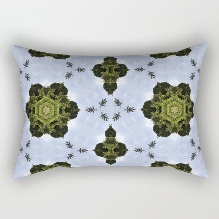 Emerald Green Kaleidoscope Rectangular Pillow
