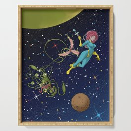 Astro Girl Serving Tray