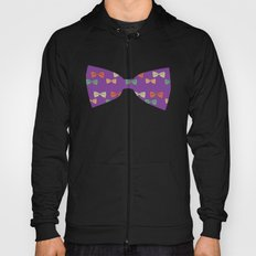 Hipster Bow Tie  Hoody
