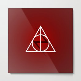 Deathly Hallows - Potter Scar Metal Print