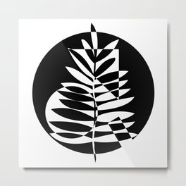 Geometric leaf - 2 Metal Print