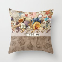 Beachcombers Seashell Paradise Throw Pillow