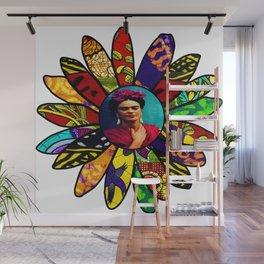 Kahlo Retro Earthy Flower Wall Mural