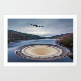 Dam Runner Art Print