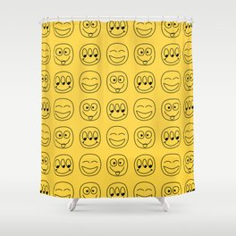 Smile Emoji Shower Curtain
