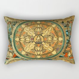 Mandala Buddhist 41 Rectangular Pillow