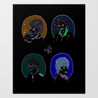 golden girls Art Prints featuring I Heart the Golden Girls Print by Jackie Thomson