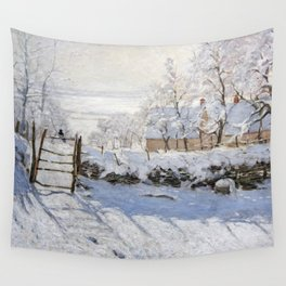 1869-Claude Monet-The Magpie -89 x 130 Wall Tapestry