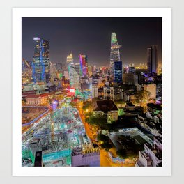 City Under Construction Art Print