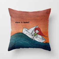 Where is home? Throw Pillow