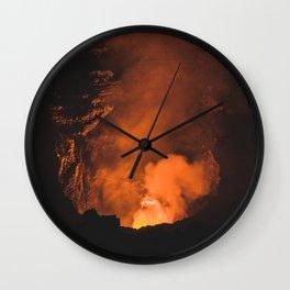 Volcan Masaya, Nicaragua Wall Clock
