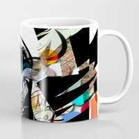 mask Mugs featuring Mask  by Irmak Akcadogan