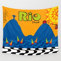 rio Wall Tapestries featuring Rio 1 by Monica Fuchshuber