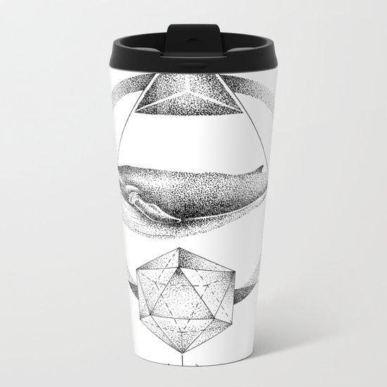 GEOMETRIC WHALE Metal Travel Mug