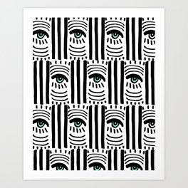 Graphic Eyes Art Print