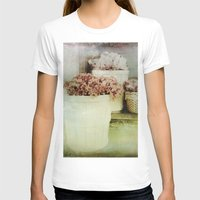vintage flowers T-shirts featuring Vintage Street Flowers by Victoria Herrera