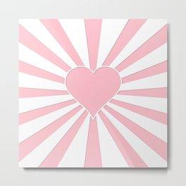 Pink Bubblegum Valentine Love Explosion Metal Print