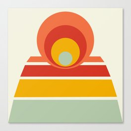 Circles & Stripes 03 Canvas Print