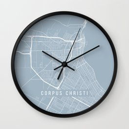 Corpus Christi Map, USA - Slate Wall Clock
