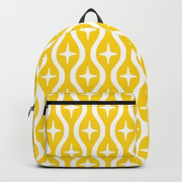 Mid century Modern Bulbous Star Pattern Yellow Backpack
