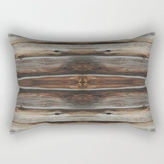 wood 2 Rectangular Pillow