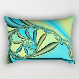 River Vine Fractal Rectangular Pillow