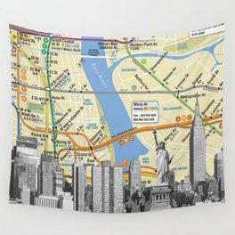 Nyc Subway Liberty Statue Wall Tapestry