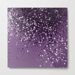 PURPLE Glitter Dream #1 #shiny #decor #art #society6 Metal Print
