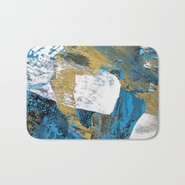 Teal Abstract Bath Mat