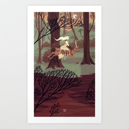 6 of Swords Art Print
