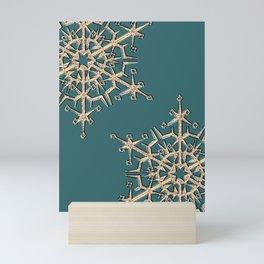 Gold snowflakes 2 Mini Art Print