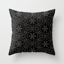 Antique Black and Gold Pattern Design Throw Pillow