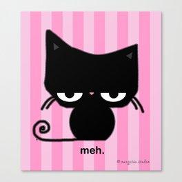 Meh Cat Canvas Print