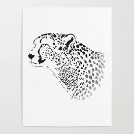Head Cheetah Poster
