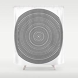 Ever Decreasing Circles Shower Curtain