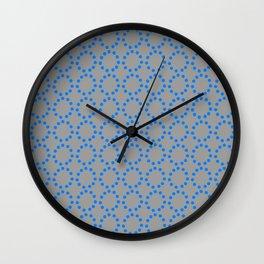 blue rings Wall Clock
