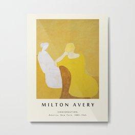 Poster-Milton Avery-Сonversation. Metal Print