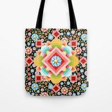 Geometric Chintz Mandala Tote Bag