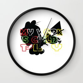 Childs Play – Gift for Teachers Wall Clock