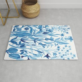 Blue Wildflowers Rug