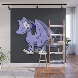 Moonlight SD Furry Dragon - Fantasy Illustration Cartoon Kawaii Cute Art Wall Mural