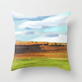 Farming Plain Throw Pillow