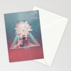 dark flower Stationery Cards