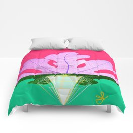 Fig Leaf Diamond Christmas Half and Half Comforters