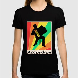 Accordion poster Piano Keyboard T-shirt