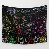 games Wall Tapestries featuring Mind Games  by Bwilly Bwightt