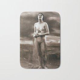 Vintage Nude Art Studies No.65 Lady Looking Towards Sky Bath Mat