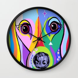 Dachshund 2 Wall Clock